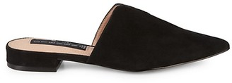 Steven by Steve Madden Lissie Suede Stacked Heel Mules