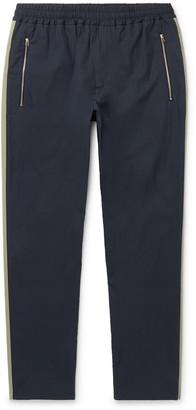 Stella McCartney Tapered Striped Cotton Drawstring Trousers