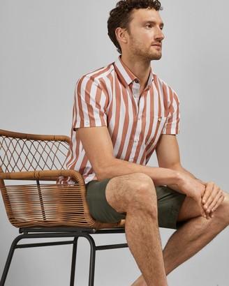 Ted Baker MARKI Striped short sleeved cotton shirt