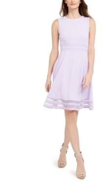 Calvin Klein Illusion Fit & Flare Dress
