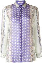 Etro abstract print sheer shirt - women - Silk/Cotton - 40