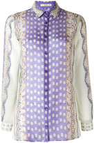 Etro abstract print sheer shirt