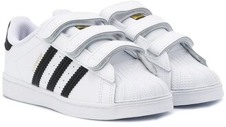 Adidas Originals Kids Superstar touch strap sneakers