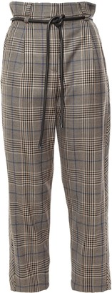 Brunello Cucinelli Cropped Belted Wool Straight-leg Pants
