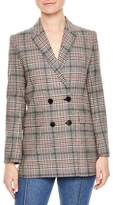 Sandro Plaid Wool Blend Jacket
