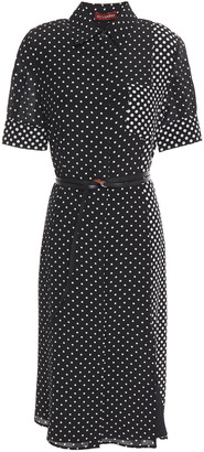 Altuzarra Belted Polka-dot Silk Crepe De Chine Dress