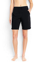 """Lands' End Women's Long 9"""" Board Shorts with Panty-Deep Sea"""