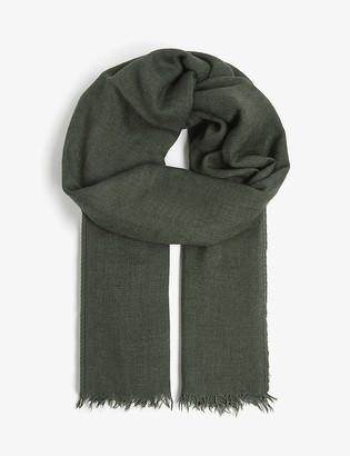 Rick Owens Cashmere-silk blend pashmina scarf