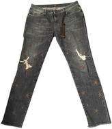 Pinko Grey Cotton Jeans for Women