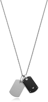 Emporio Armani Iconic Stainless Steel And Carbon Fiber Print Men's Necklace