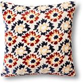 Kevin OBrien Puff Flower 16x16 Velvet Pillow, White