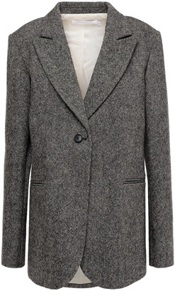 Victoria Beckham Donegal Wool-tweed Blazer