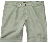 Incotex Slim-fit Linen And Cotton-blend Shorts - Green