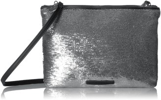 A|X Armani Exchange Sequined Pouch Black