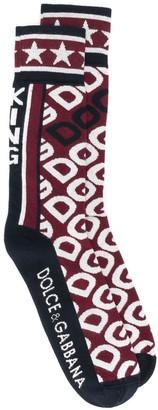 Dolce & Gabbana jacquard logo print socks