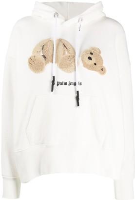 Palm Angels Teddy-Bear Detail Hoodie