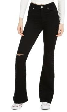 Indigo Rein Juniors' Ripped Flare-Leg Jeans