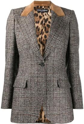 Dolce & Gabbana Glen plaid single-breasted jacket