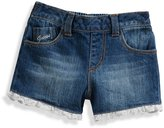 GUESS Denim Shorts with Lace Trim (12-24m)