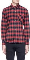 NSF 'Axel' distressed check plaid shirt