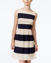 B. Darlin Juniors' Striped Fit and Flare Dress
