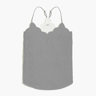J.Crew Striped scalloped cami top