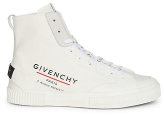 Givenchy Tennis Light High-Top Canvas Sneakers