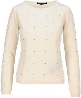 Max Mara Embellished Crewneck Sweater