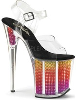 Pleaser USA Flamingo-808 Rhinestone Ankle Strap Sandal (Women's)