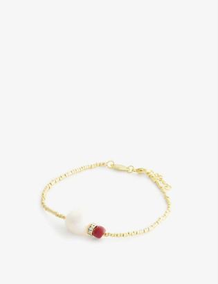 Anni Lu Sun Dance 18ct gold-plated vermeil brass bracelet