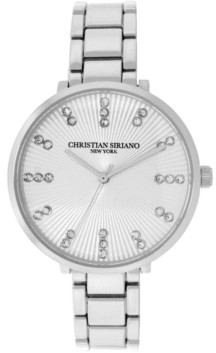 Christian Siriano New York Christian Siriano Women's Analog Silver-Tone Stainless Steel Add-a-Link Watch 38mm