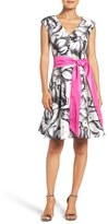 Eliza J Print Fit & Flare Dress (Regular & Petite)