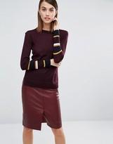 Whistles Hayden Stripe Cuff Sweater