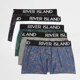 River Island Blue Paisley Print Hipsters Multipack