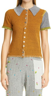 Yanyan Tweedle Short Sleeve Cardigan