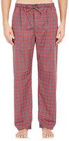 Barneys New York Men's Plaid Pajama Pants-RED, BLUE