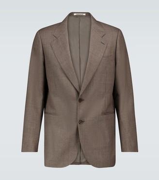 AURALEE Bluefaced wool blazer