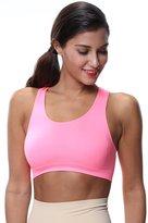 Franato Women's Freedom Seamless Workout Racerback Gym Fit Yoga Sports Bra Small