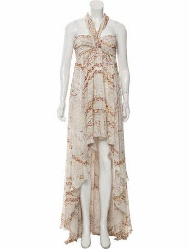 Balmain Silk Printed Dress w/ Tags multicolor