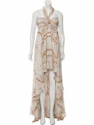 Balmain Silk Printed Dress w/ Tags multicolor