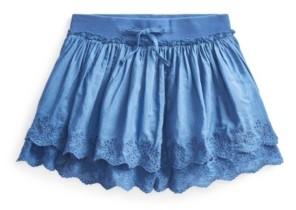 Polo Ralph Lauren Little Girls Eyelet Scooter Skirt