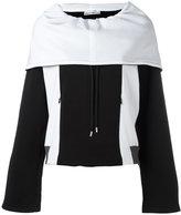 Paco Rabanne oversized zipped hoodie - women - Cotton/Polyamide/Spandex/Elastane - 36