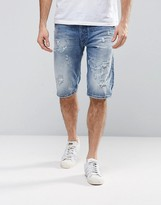 Diesel KROWSHORT Distressed Denim Shorts