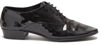 Saint Laurent Smoking Patent-leather Oxford Shoes - Mens - Black