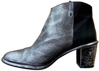 Miista Silver Leather Ankle boots