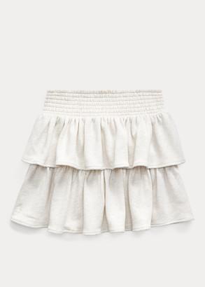Ralph Lauren Ruffled Atlantic Terry Skirt