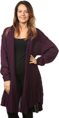 Bay eCom UK Women's Ladies Knitted Waterfall Boyfriend Cardigans Sweaters Full Sleeves Long top Plus Sizes (20/22