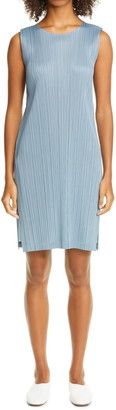 Pleats Please Issey Miyake Sleeveless Shift Dress