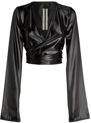 Rick Owens Liquid Latex Wrap Top