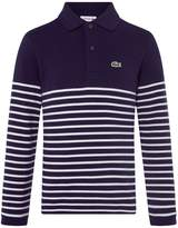 Lacoste Sport Boys Stripped Polo Shirt